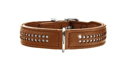 HUNTER Diamond Elk Petit Halsband Cognac (Best. vara)