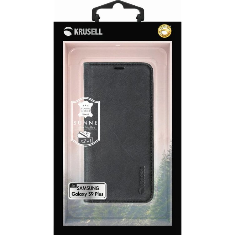 Krusell Samsung Galaxy S9, Sunne, 2 Card Wallet, Black