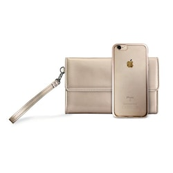 Puro iPhone 8/7, Satin Frame Cover w/Bag, guld