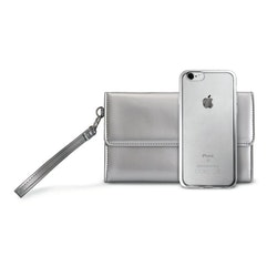 Puro iPhone 8/7, Satin Frame Cover w/Bag, silver