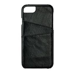 GEAR Mobilskal Onsala Skinn Svart med Kortfack iPhone 6/7/8