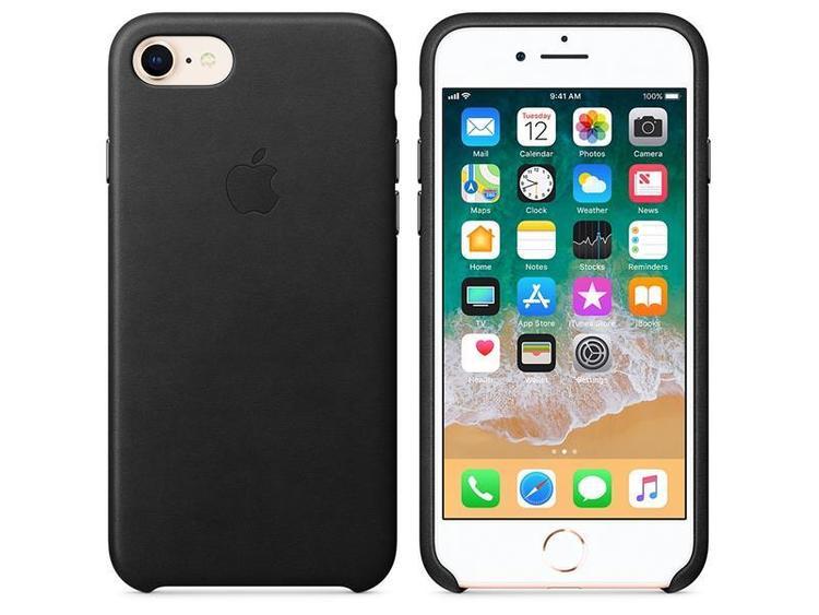 Apple Leather Case svart, för iPhone 8 / 7