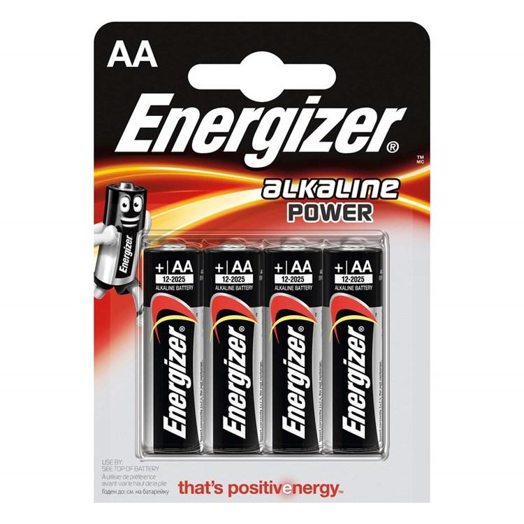 ENERGIZER Batteri AA/LR6 Alkaline Power 4-pack