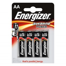ENERGIZER Batteri AA/LR6 Alkaline Power 4-pack