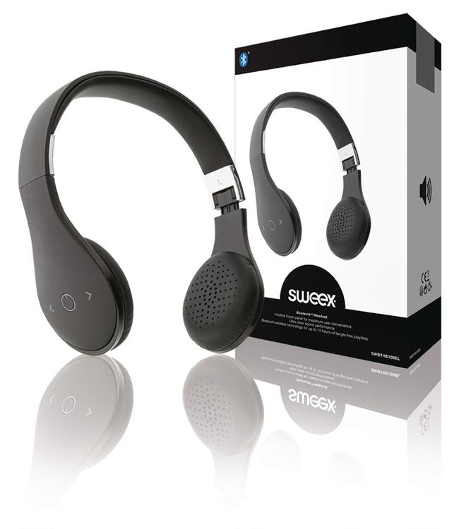 Sweex Headset On-Ear Bluetooth Inbyggd Mikrofon Svart