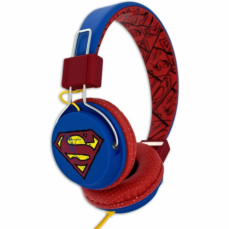 SUPERMAN Hörlur Tween On-Ear Blå Vintage Supermanlogo 110dB