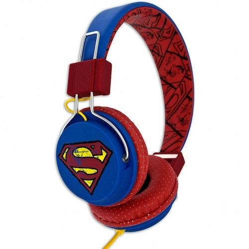 SUPERMAN Hörlur Tween On-Ear Blå Vintage Supermanlogo 110dB