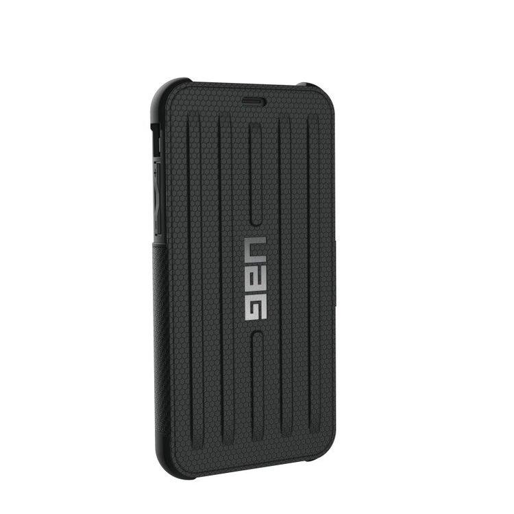 UAG iPhone X, Metropolis Flip Card Case, svart