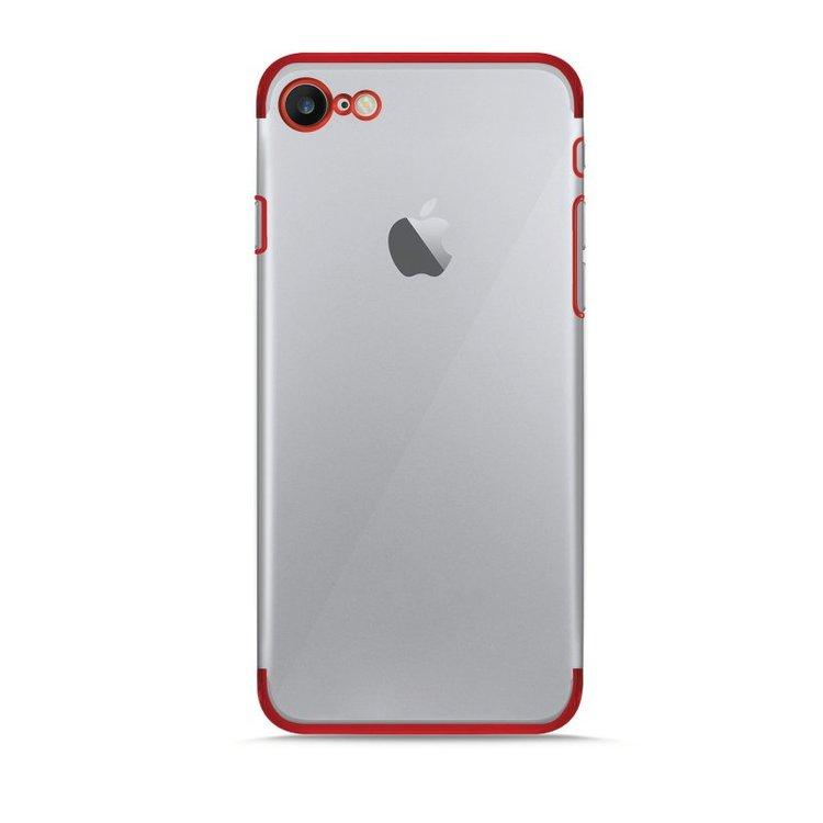 Puro iPhone 8/7, Verge Crystal Cover, röd