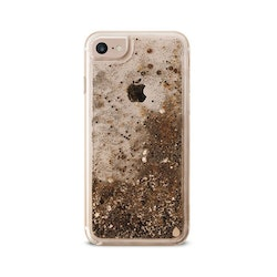 Puro iPhone 8/7/6S, Aqua Winter Cover, guld