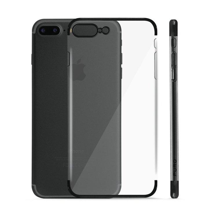 Puro iPhone 8/7 Plus, Verge Crystal Cover, svart