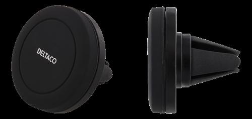 DELTACO bilhållare med magnet för ventilationsgaller, för smartphones, svart