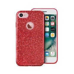 Puro iPhone 8/7/6/6S, Shine Cover, röd
