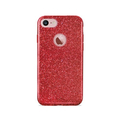 Puro iPhone 8/7/6/6S, Shine Cover, röd