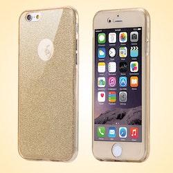 iPhone 7 skal med glitter i guldfärg