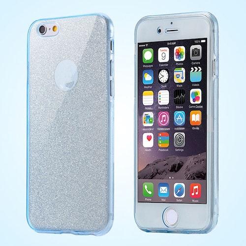 iPone 7 skal med glitter i blått