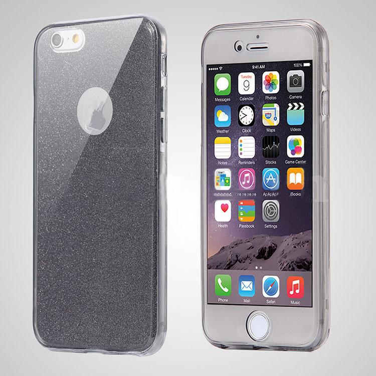 iPhone 7 skal i svart med glitter