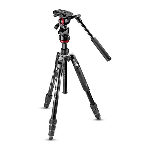 MANFROTTO Stativkit Video Befree Advanced Live Twist Alu Svart