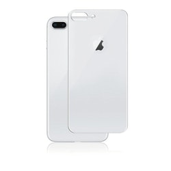 Panzer iPhone 8 Plus, Curved Silicate Glass Back, Silver