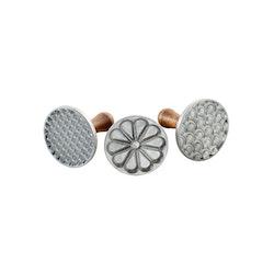 Nordic Ware Kakstämplar 3-pack färg silver