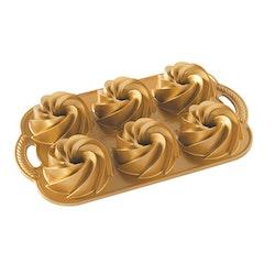 Nordic Ware Bakform Mini Heritage Guld