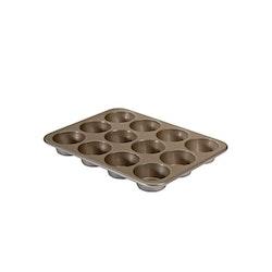 Nordic Ware Natural Bakeware Muffinsform 12 Hål Aluminium