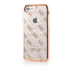 Guess iPhone 7, 4G Transparent TPU Cover Gold