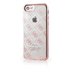 Guess iPhone 7, 4G Transparent TPU Cover Rose Gold