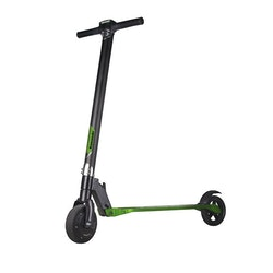 "Kawasaki Electric Kick Scooter 6.5"" v1, svart/grön"
