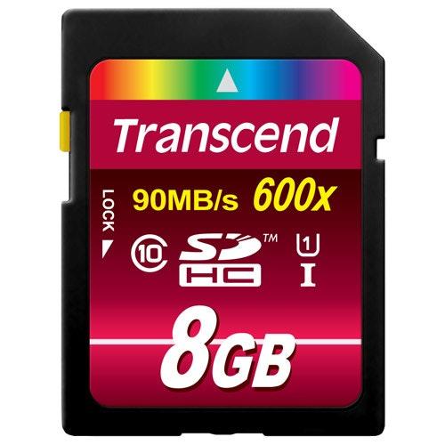 Transcend SDHC 8GB Class10 UHS-I 600x
