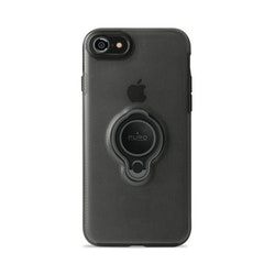 Puro iPhone 8/7, Magnet Ring Cover, svart