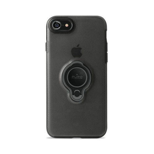 Puro iPhone 8/7, Magnet Ring Cover, svart