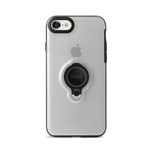 Puro iPhone 8/7, Magnet Ring Cover, transparent