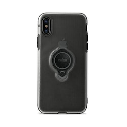 Puro iPhone X, Magnet Ring Cover, svart
