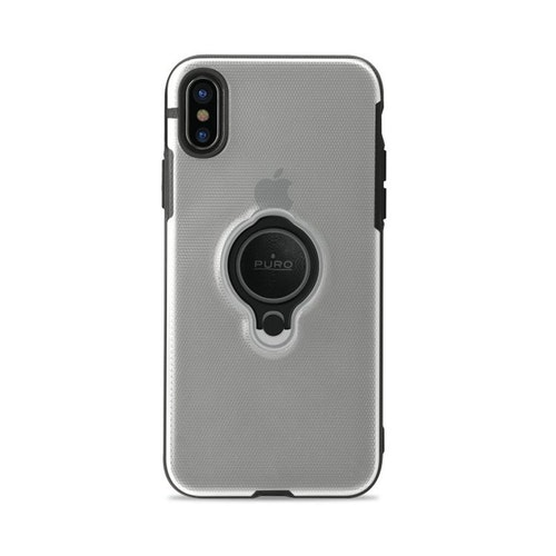 Puro iPhone X, Magnet Ring Cover, transparent
