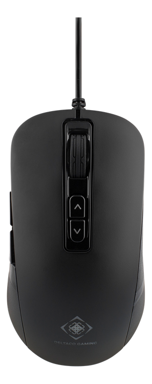 """DELTACO GAMING optisk mus, 7 knappar, """"breathing"""" LEDs, svart"""