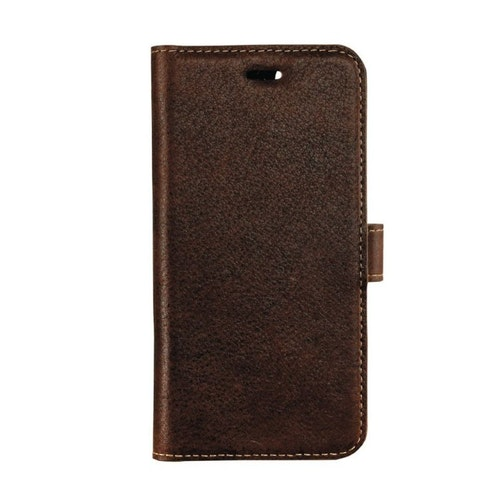 Essentials iPhone 8/7/6S, Leather Wallet 3 kortplatser, brun