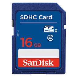 SANDISK Minneskort SDHC 16GB Class4