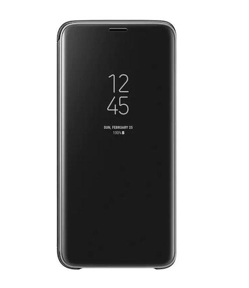 Samsung Clear View Standing Cover Svart, för Galaxy S9