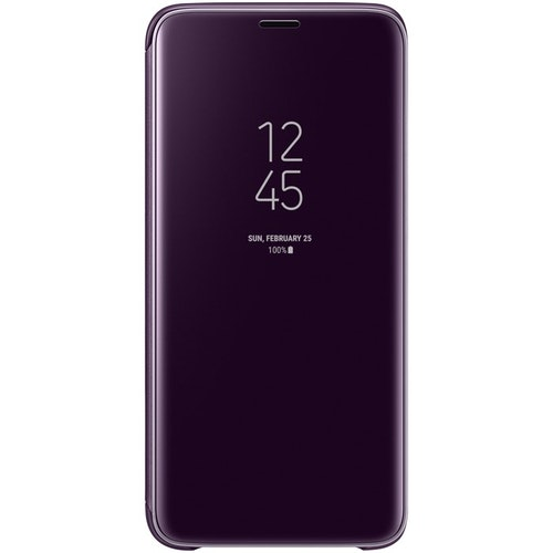 Samsung Clear View Standing Cover Lila, för Galaxy S9