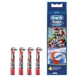 Oral-B Refillborsthuvud för eltandborste x4