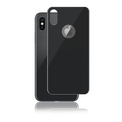 Panzer iPhone X, Curved Silicate Glass Back, Space Grey