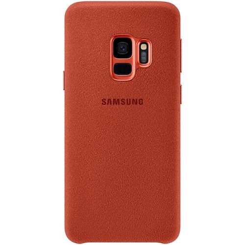 Samsung Alcantara Cover Röd, för Galaxy S9