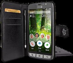Doro Wallet case - Vikbart fodral för mobiltelefon - svart - för Liberto 825