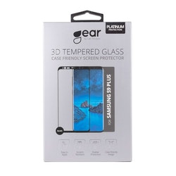 GEAR Härdat Glas 3D Samsung S9 Plus Edge to Edge Svart