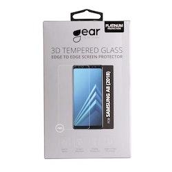 GEAR Härdat Glas 3D Samsung A8 (2018) Edge to Edge Transparent
