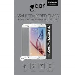 "GEAR Härdat Glas 3D 5.1"" Samsung S6, Edge to Edge Vit"