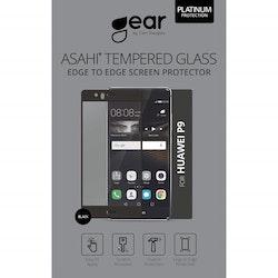 "GEAR Härdat Glas 3D 5"" Huawei P9 Edge to Edge Svart"