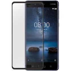 GEAR Härdat Glas 3D Nokia 8 Edge to Edge Transparent