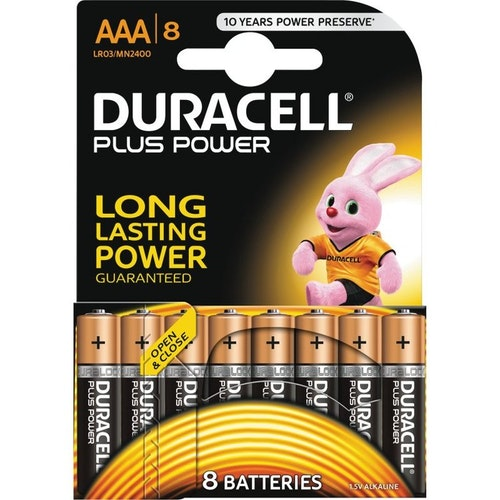 Duracell Plus Power AAA Alkaline Batteries, 8pk